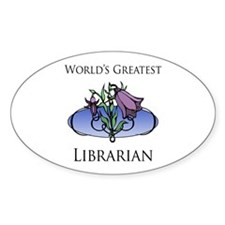 World's Greatest Librarian (Flower) Decal