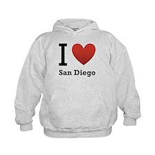 I Love San Diego Hoodie