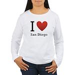 I Love San Diego Women's Long Sleeve T-Shirt