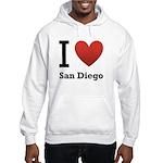 I Love San Diego Hooded Sweatshirt