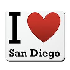 I Love San Diego Mousepad
