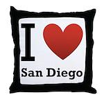 I Love San Diego Throw Pillow