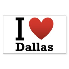 I Love Dallas Decal