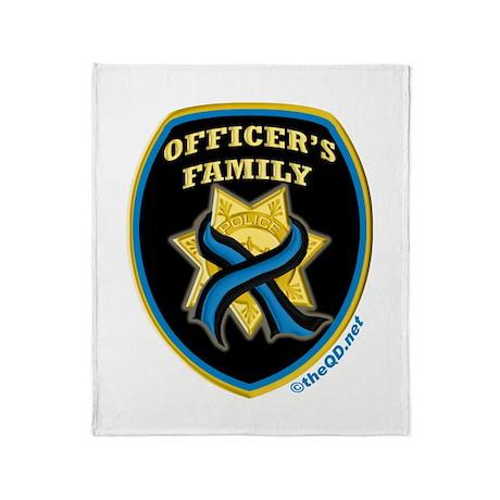 ThinBlueLine Officer's Family Throw Blanket