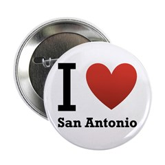 "I Love San Antonio 2.25"" Button"