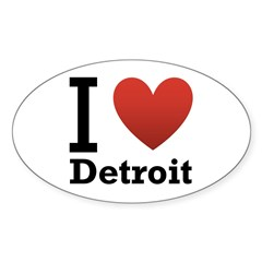 I Love Detroit Decal