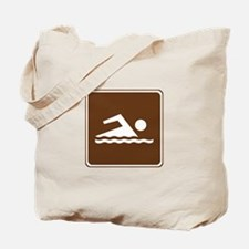 Swimming Sign Tote Bag