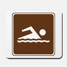 Swimming Sign Mousepad