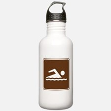 Swimming Sign Water Bottle