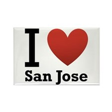I Love San Jose Rectangle Magnet