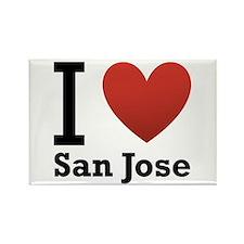 I Love San Jose Rectangle Magnet (100 pack)