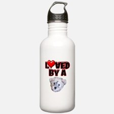 Loved by a Schnoodle Water Bottle