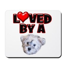 Loved by a Schnoodle Mousepad