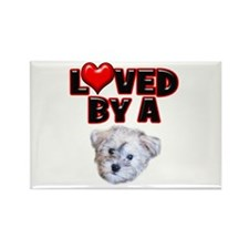 Loved by a Schnoodle Rectangle Magnet