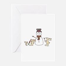 Cute Rabbit christmas Greeting Cards (Pk of 10)