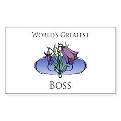 World's Greatest Boss (Flower) Decal