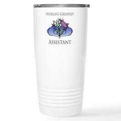 World's Greatest Assistant (Flower) Travel Mug