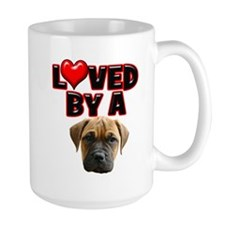 Loved by a Bull Mastiff Mug