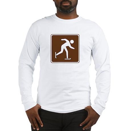 Ice Skating Sign Long Sleeve T-Shirt