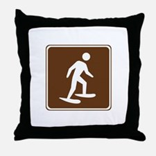 Snow Shoeing Sign Throw Pillow
