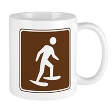 Snow Shoeing Sign Mug