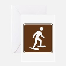 Snow Shoeing Sign Greeting Card