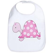 Pink Girly Turtle Bib