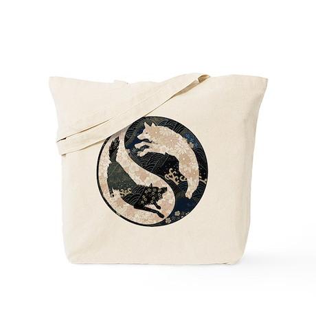 Origami Yin-Yang Wolves Tote Bag