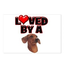 Loved by a Dachshund Postcards (Package of 8)