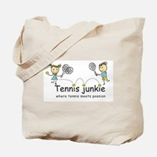 Tennis Junkies Boy and Girl Tote Bag
