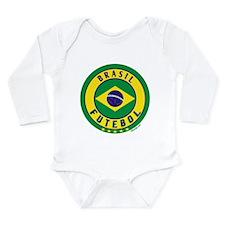 Brasil Futebol/Brazil Soccer Long Sleeve Infant Bo