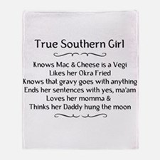 True Southern Girl Throw Blanket