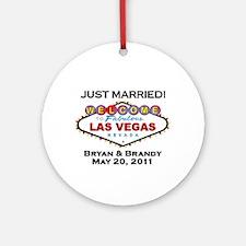 las Vegas Wedding Bryan/Brandy Ornament (Rnd)