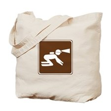Spelunking Sign Tote Bag