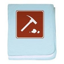 Rock Collecting Sign baby blanket
