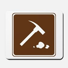 Rock Collecting Sign Mousepad