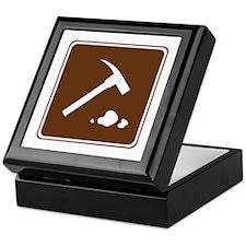 Rock Collecting Sign Keepsake Box