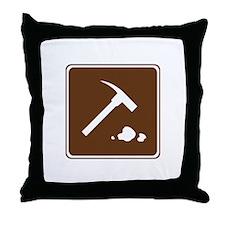 Rock Collecting Sign Throw Pillow