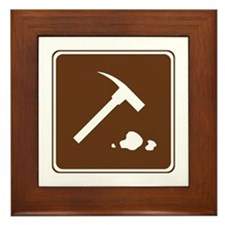 Rock Collecting Sign Framed Tile