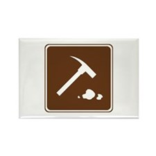 Rock Collecting Sign Rectangle Magnet (10 pack)