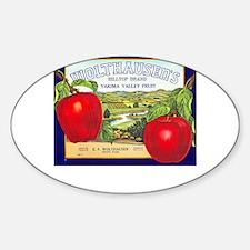Fruit crate Sticker (Oval)