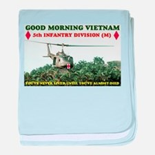 5th INFANTRY DIV VIETNAM baby blanket