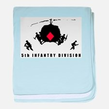 5th INFANTRY DIVISION baby blanket