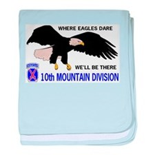 10th MOUNTAIN DIVISION baby blanket