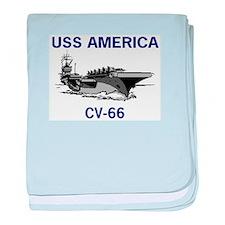 USS AMERICA CV-66 baby blanket
