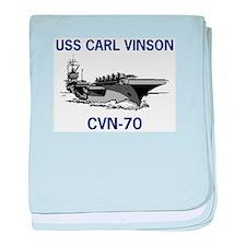 USS CARL VINSON baby blanket
