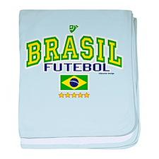 Brasil Futebol/Brazil Soccer/Football baby blanket