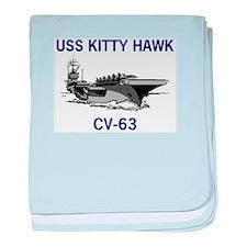 USS KITTY HAWK baby blanket