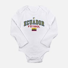 Ecuador Futbol/Soccer Long Sleeve Infant Bodysuit