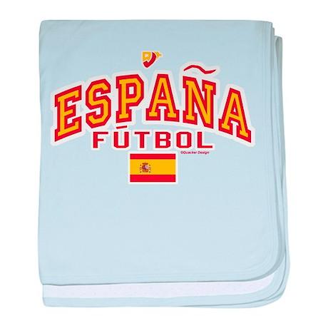 Espana Futbol/Spain Soccer baby blanket